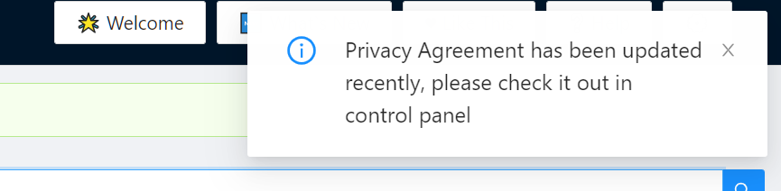 Privacy Agreement changed